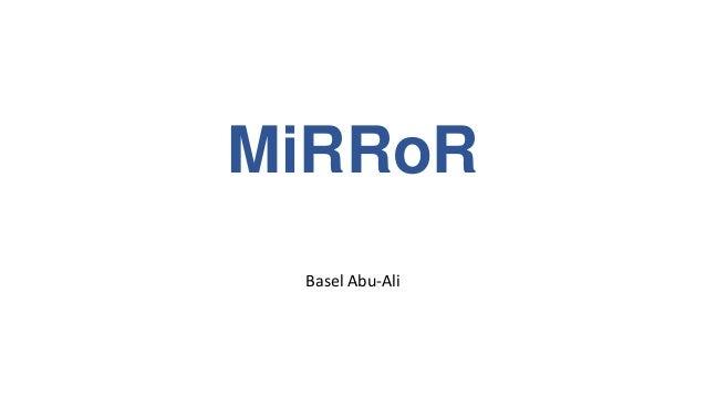 MiRRoR Basel Abu-Ali