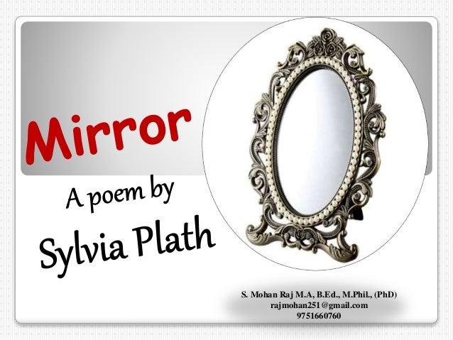 alliteration in mirror by sylvia plath