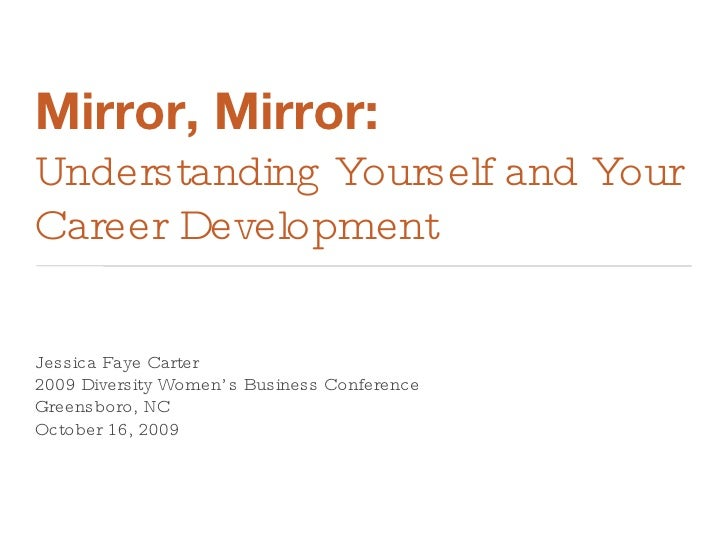 Mirror, Mirror:  Understanding Yourself and Your Career Development <ul><li>Jessica Faye Carter </li></ul><ul><li>2009 Div...