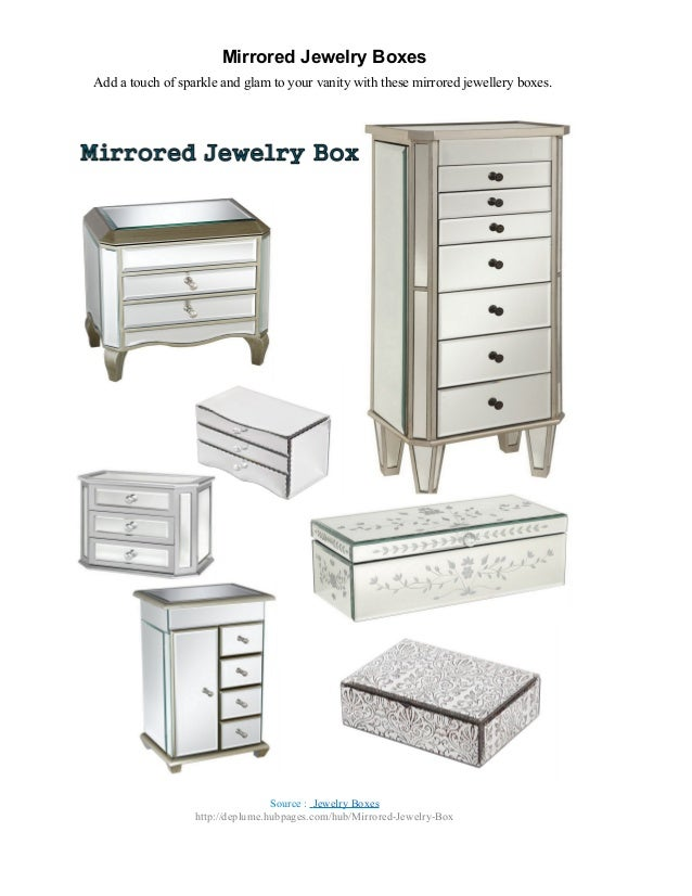 Mirrored jewelry boxes