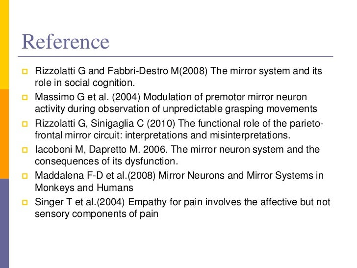 role of mirror neuron system mns in autism W e revie w next the characteristics of the mirror -neuron system in humans the mirror -neuron system plays a fundamental role in action imitation.