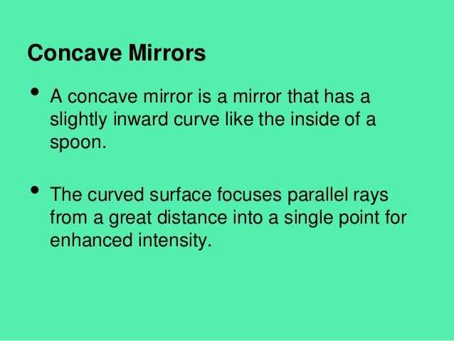 concave mirrors in real life
