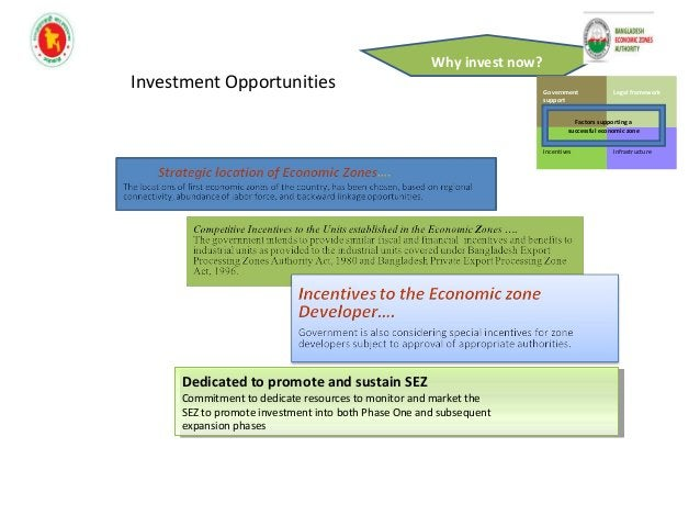Why invest now? Government support Legal framework Incentives Infrastructure Head of Incentives Package Tax Holiday • 1st ...