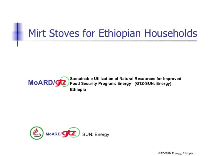 Mirt stoves for ethiopian households (gtz)