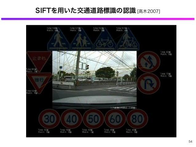 54 SIFTを用いた交通道路標識の認識 [高木2007]