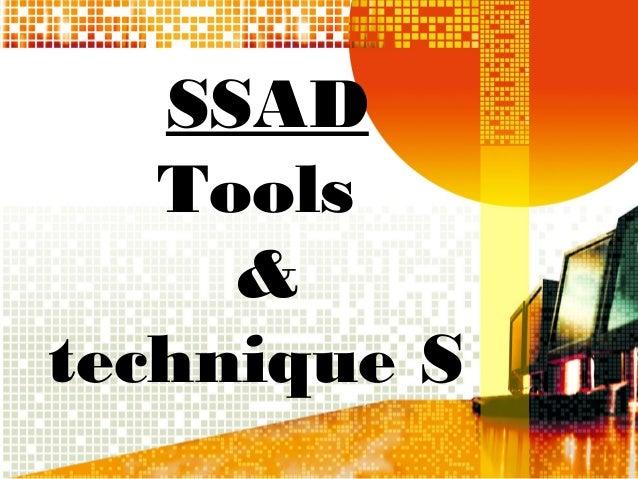 SSAD Tools & technique S