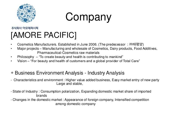 Amore pacific international business strategy marketing essay