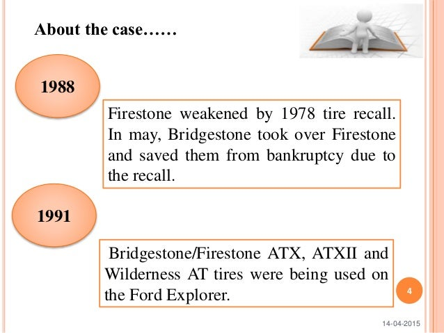 ford and firestones tire recall: the costliest information gap in history essay Ford and firestone's tire recall: the costliest information gap in history by: alicia hopkins outline overview surrounding events summary.