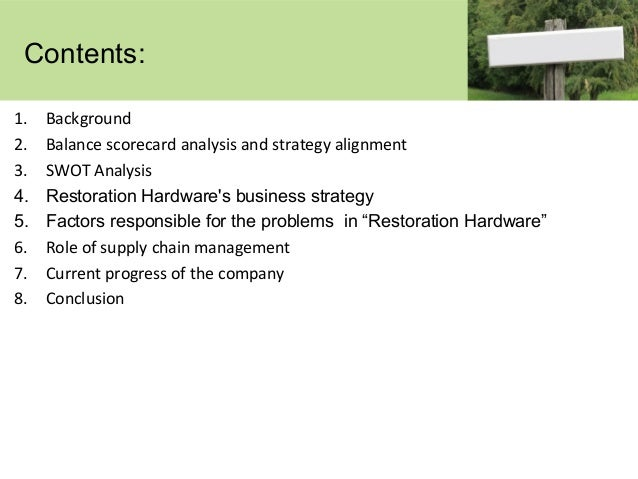can information systems restore profitability to Can information systems restore profitability to restoration hardware filed under: term papers 5 pages, 2344 words 1 evaluate restoration hardware using the value chain and competitive forces models how is the company responding to the forces that influence it.