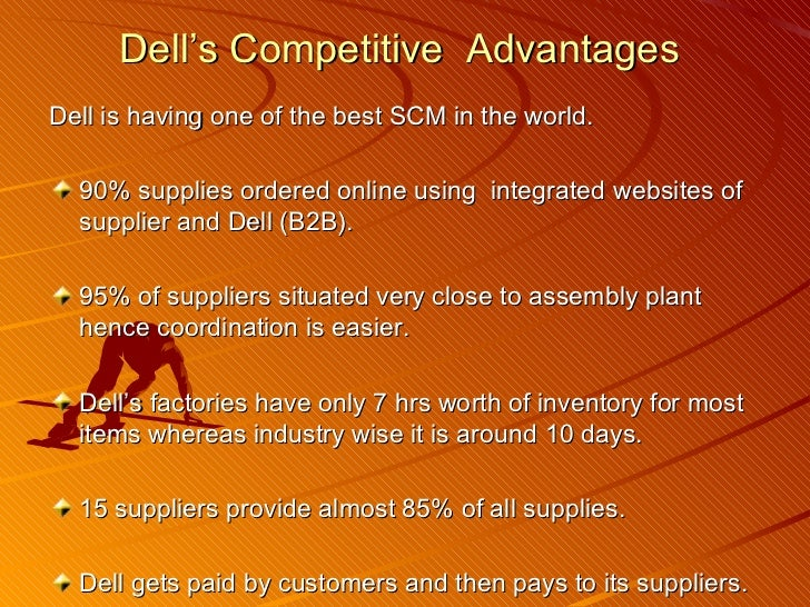 dell disadvantages of supply chain Information technology • the dell supply chain management (scm) database systems handle key business functions that support worldwide manufacturing operations, including the efficient dell inventory management model and fast, direct delivery of computers, accessories, parts, and supplies.