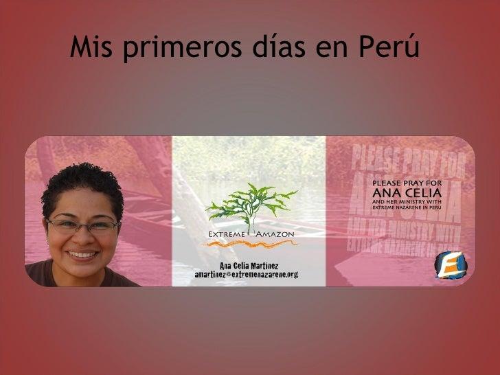 Mis primeros días en Perú