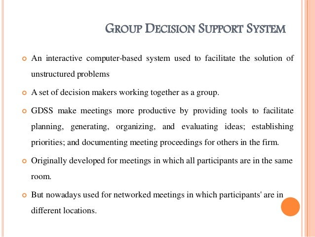 Group Decision System 19