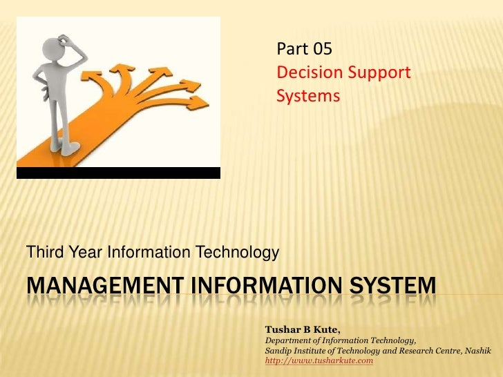 MIS 05  Decision Support Systems