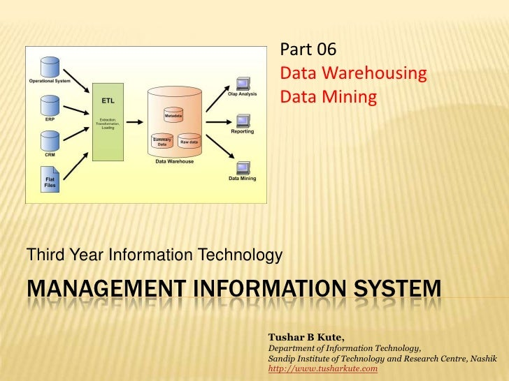 MIS 06  Data Warehousing and Mining