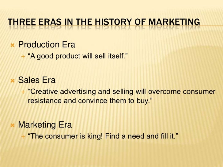 marketing and production relationship