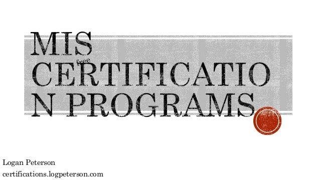 Logan Peterson certifications.logpeterson.com