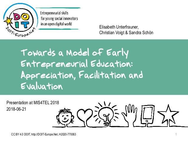 Towards a Model of Early Entrepreneurial Education: Appreciation, Facilitation and Evaluation Elisabeth Unterfrauner, Chri...