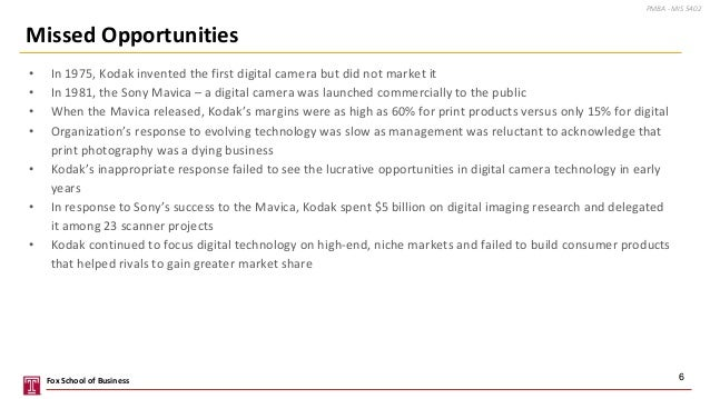 • In 1975, Kodak invented the first digital camera but did not market it • In 1981, the Sony Mavica – a digital camera was...