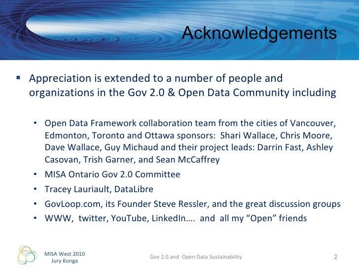 Gov 2.0 and Open Data Sustainability Slide 2