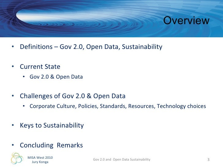 Gov 2.0 and Open Data Sustainability Slide 3