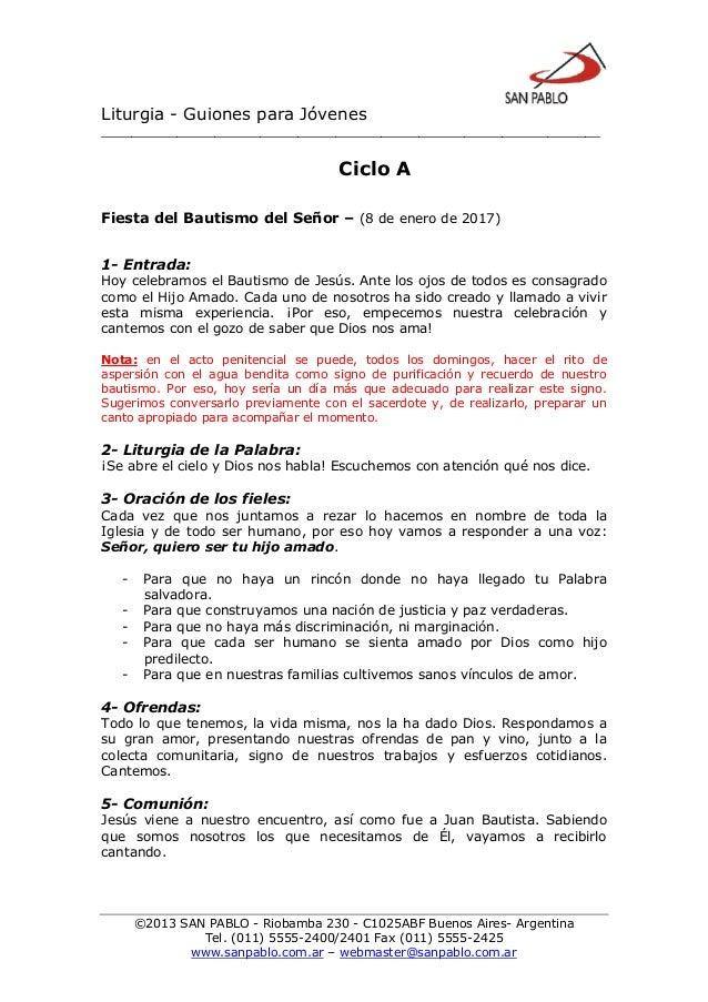 Liturgia - Guiones para Jóvenes __________________________________________________________________ ©2013 SAN PABLO - Rioba...