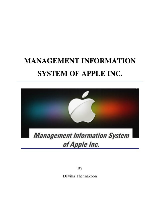 Management Information System Apple Inc