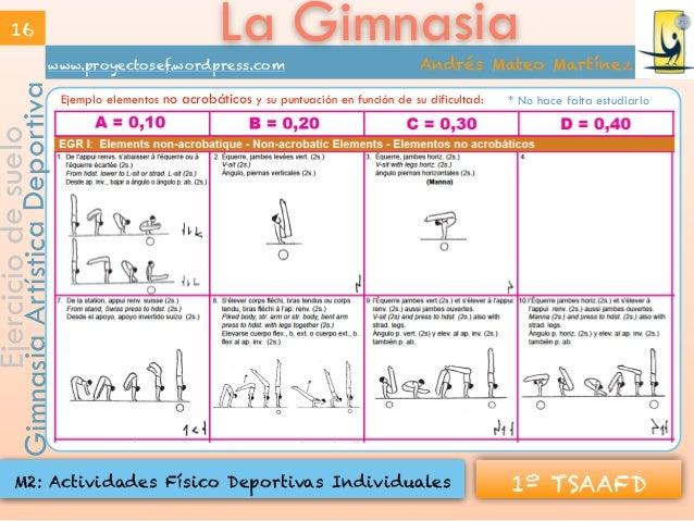 La gimnasia modalidades for Gimnasia informacion