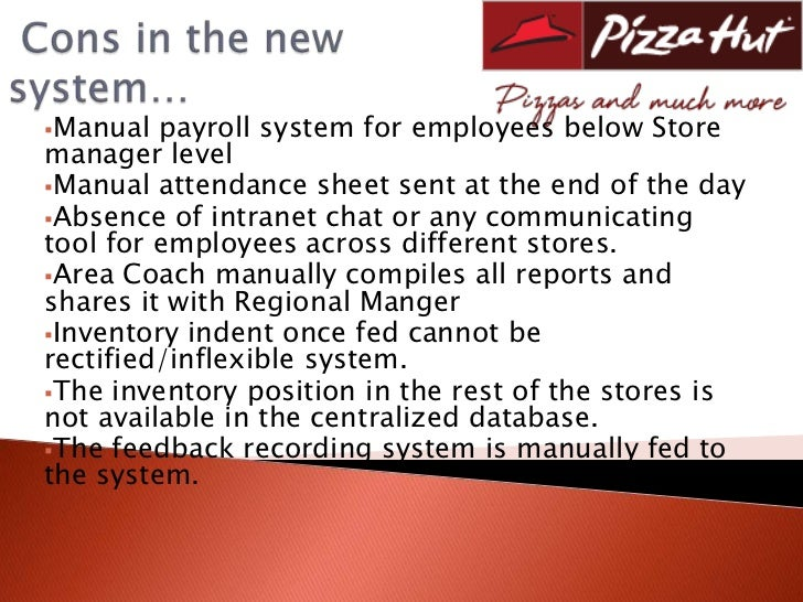 pizza hut motivation system Pizza hut essay sample  the description of the dimension of impact of the proposed system within pizza hut benefits for pizza-hut eating house:  motivational.
