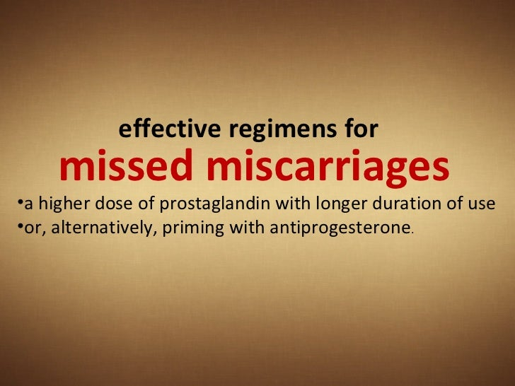 Cytotec For Missed Miscarriage