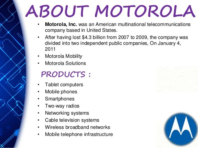 Motorola inc case study