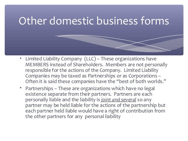 limited liability corporations verses corporations essay When considering the llc vs s-corp question, keep in mind that limited liability companies are a bit easier to start and to run, and generally.