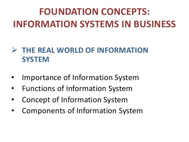 concept of information system pdf