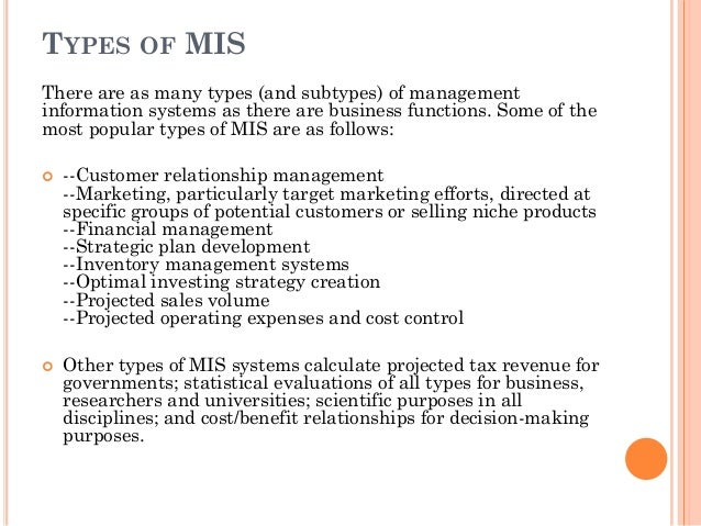 mis objectives and uses Management information systems (mis) 2 equipped and connected is operating a management information system the term used to be restricted to large.