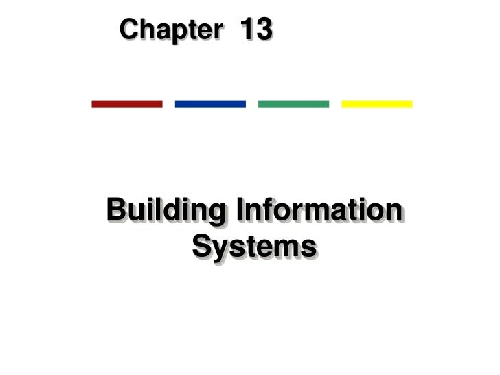 Chapter 13Building Information      Systems
