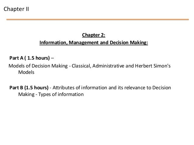 information management and decision making pdf