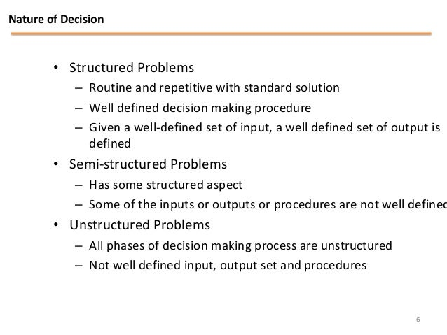mis and decision making Role impact and importance of mis  and helps them further in decision-making at  problem identification and helps in the.
