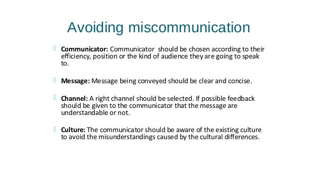 miscommunication nonverbal Why is non-verbal communication important basically, it is one of the key aspects of communication (and especially important in a high-context culture).