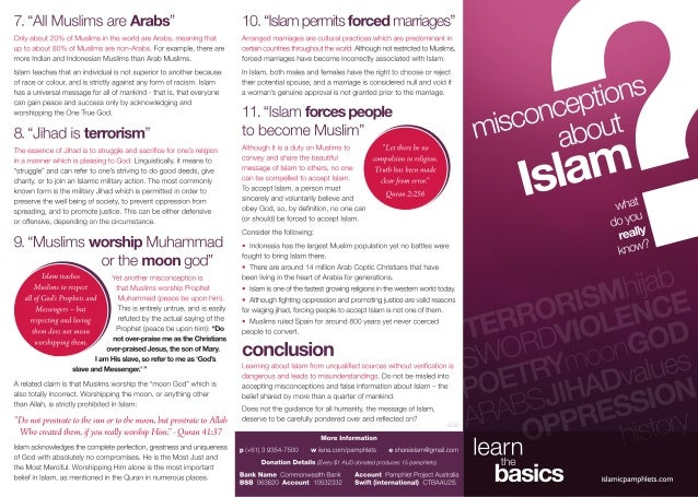 Misconceptions about Islam # 1 What do You Really know ?