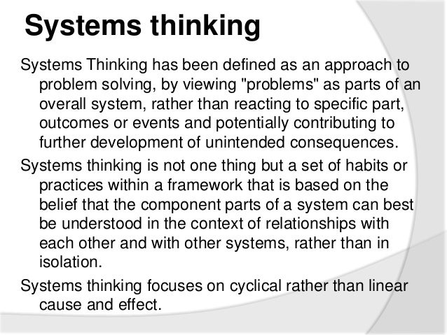 critical systems thinking definition An introduction to systems thinking by barry richmond this document is copyright protected and may not be reproduced or systems thinking skills: operational.