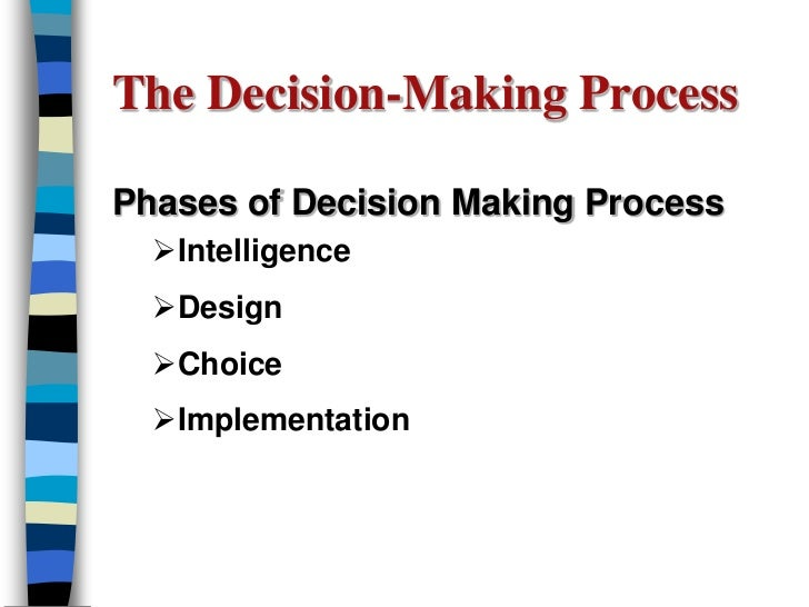 decision making stages in mis Management information systems help managers make effective decisions to support ongoing operations within an organization learn about the types.