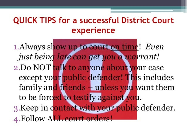 What to Expect with Your Benton County District Court