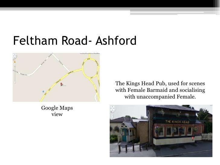 Feltham Road- Ashford<br />The Kings Head Pub, used for scenes with Female Barmaid and socialising with unaccompanied Fema...