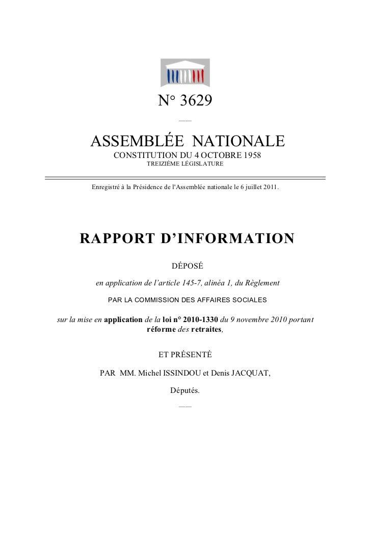 N° 3629                                          ——         ASSEMBLÉE NATIONALE                  CONSTITUTION DU 4 OCTOBRE...
