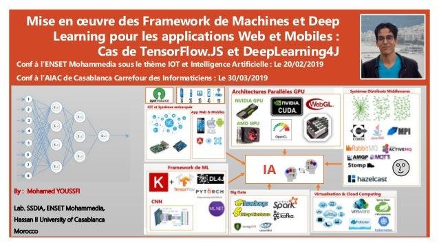 Mise en œuvre des Framework de Machines et Deep Learning pour les applications Web et Mobiles : Cas de TensorFlow.JS et De...