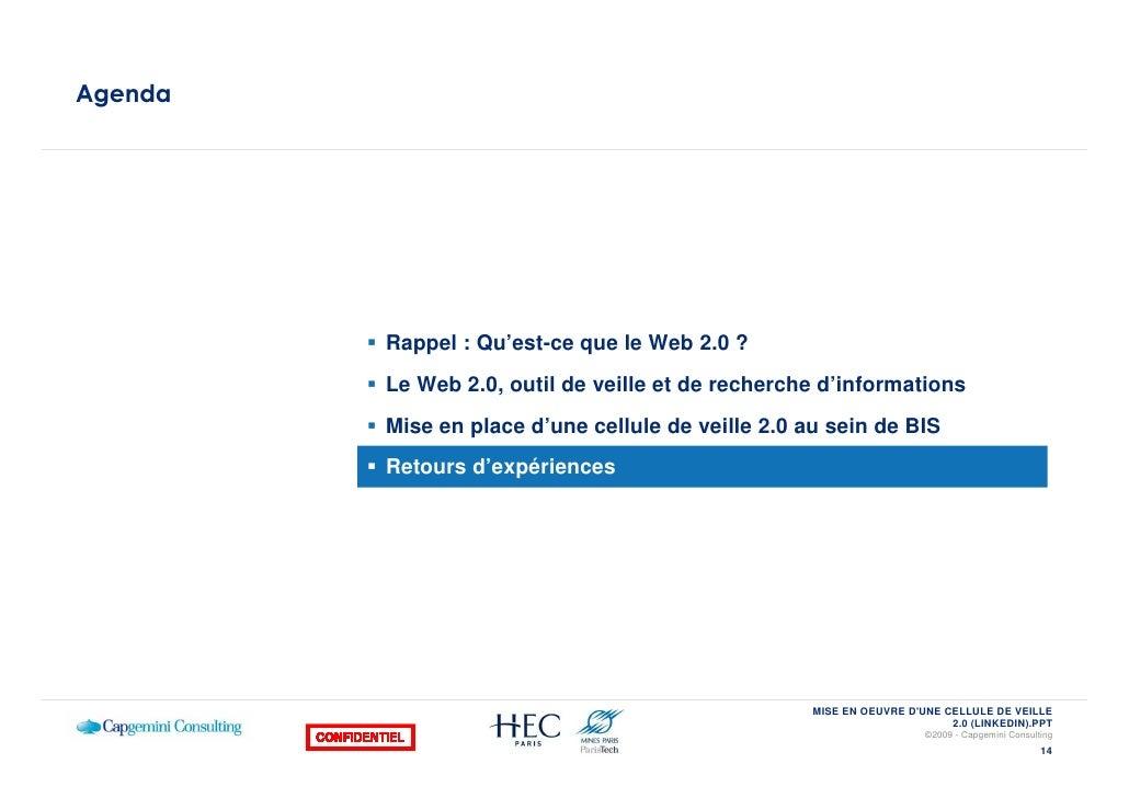 Agenda              Rappel : Qu'est-ce que le Web 2.0 ?          Le Web 2.0, outil de veille et de recherche d'information...
