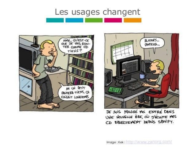 Image : Kek : http://www.zanorg.com/ Les usages changent