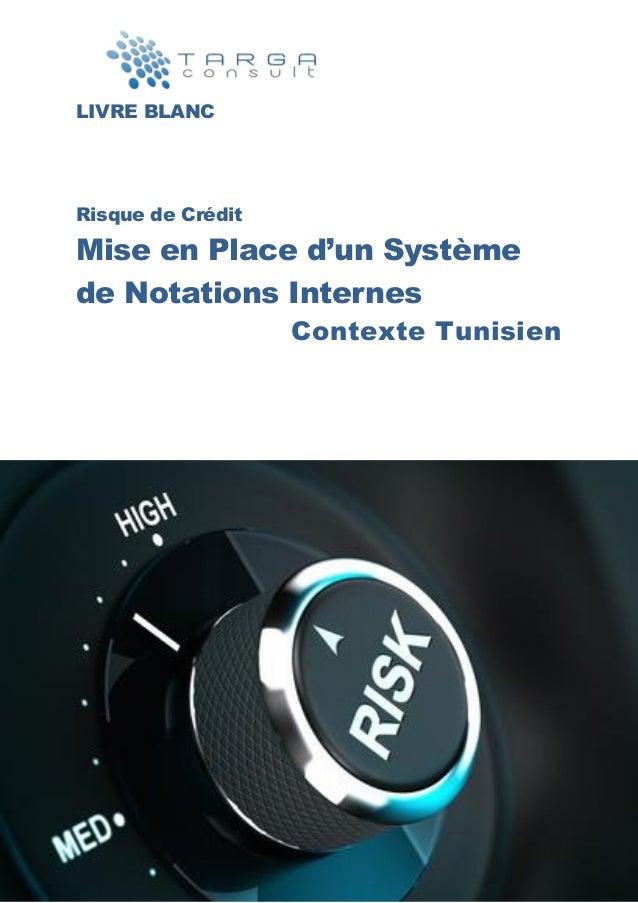 LIVRE BLANC Risque de Crédit Mise en Place d'un Système de Notations Internes Contexte Tunisien