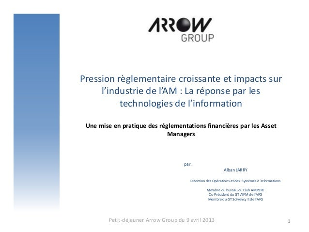 Pression règlementaire croissante et impacts sur     l'industrie de l'AM : La réponse par les          technologies de l'i...