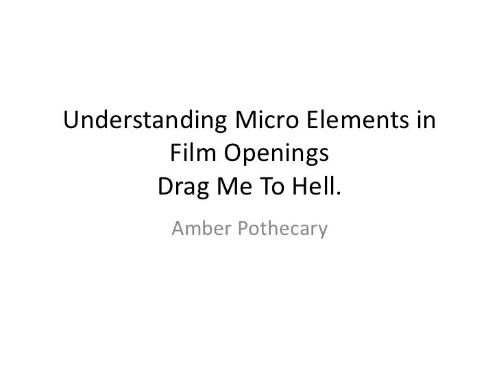 Understanding Micro Elements in        Film Openings       Drag Me To Hell.         Amber Pothecary