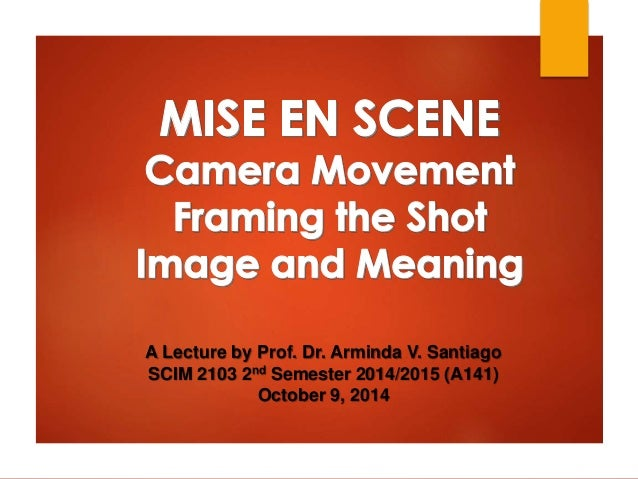A Lecture By Prof Dr Arminda V Santiago SCIM 2103 2nd Semester 2014